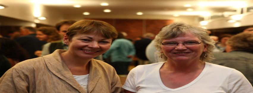 Ann Shacklday-Smith with Caroline Lucas